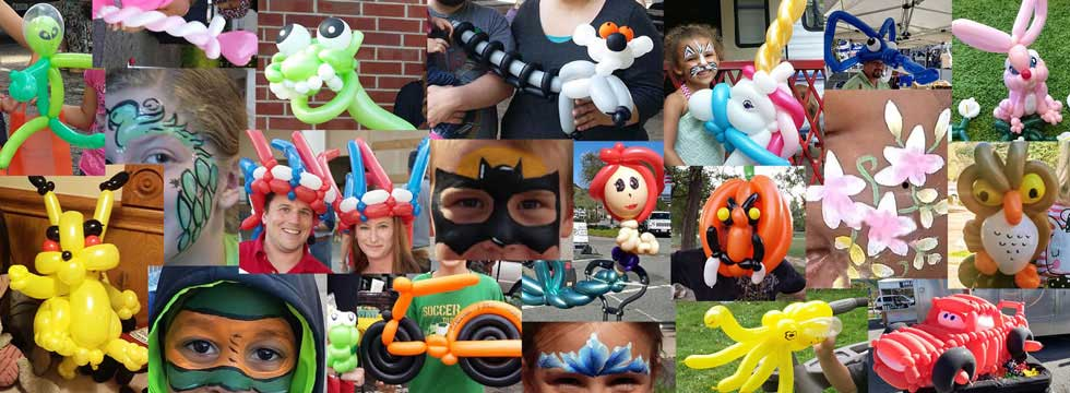 best balloon twisters and face painters in the Bay Area and NE Ohio
