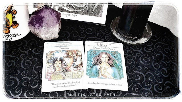 Maat & Brigit from the Goddess Guidance Oracle