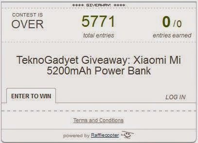 Xiaomi Mi 5200mAh Power Bank Giveaway Winner