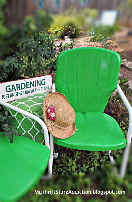Vintage garden chair upcycle
