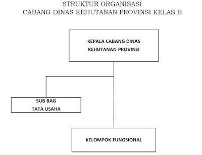 Struktur Organisasi Cabang Dinas Kehutanan Provinsi Kelas B