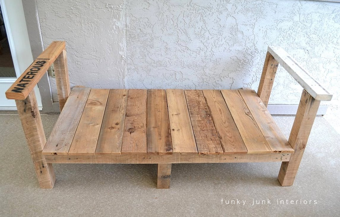 How I Built The Pallet Wood Sofa Part 2 Funky Junk Interiors