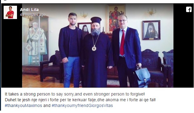 Greek Priest Giorgos Vitas forgave Andi Lila
