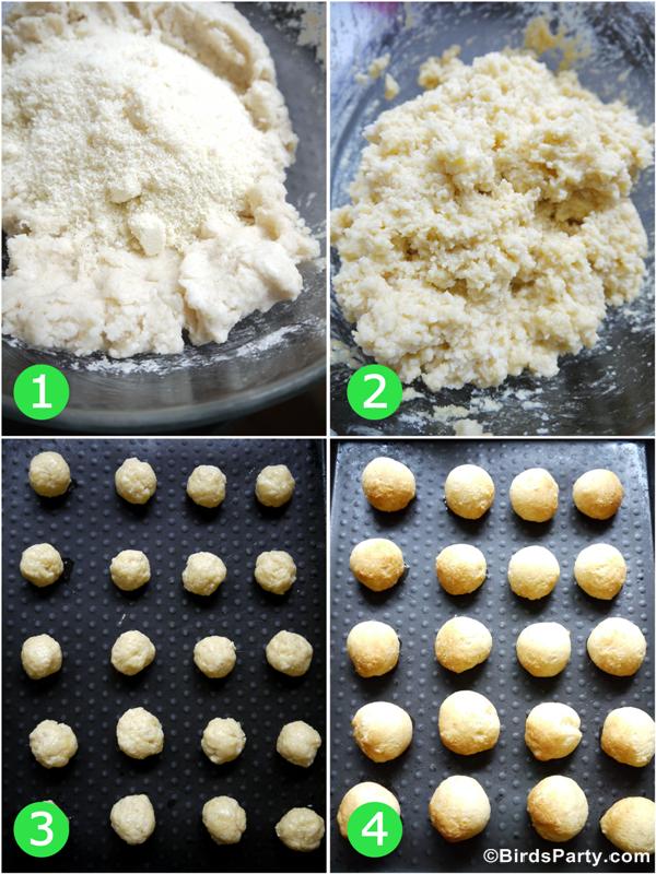 Gluten-Free Brazilian Appetizer Pão de Queijo Recipe - BirdsParty.com