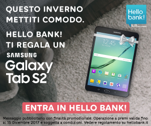 Hello Bank! Regala un Samsung Galaxy Tab 2 da 450€!