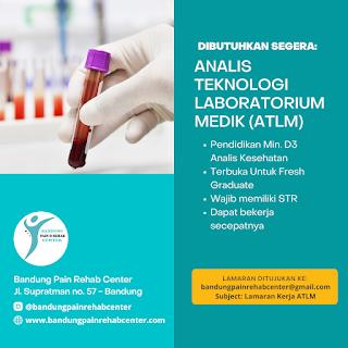 Lowongan Kerja Bandung   ATLM Di Bandung Pain Rehab Center