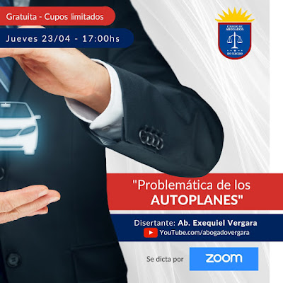 """Conferencia """"Problemática de los Autoplanes"""" organizada por el Colegio de Abogados de Río Tercero"""