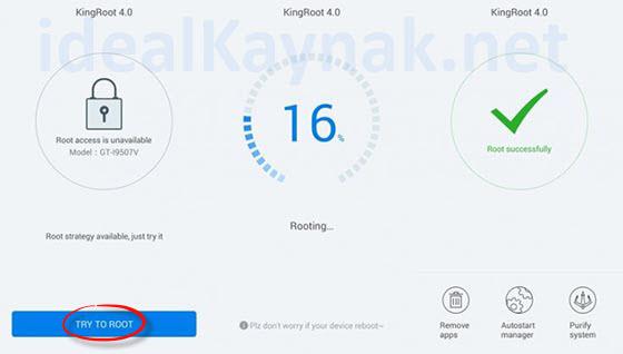KingRoot ile Android Cihazlarda Root Yapma