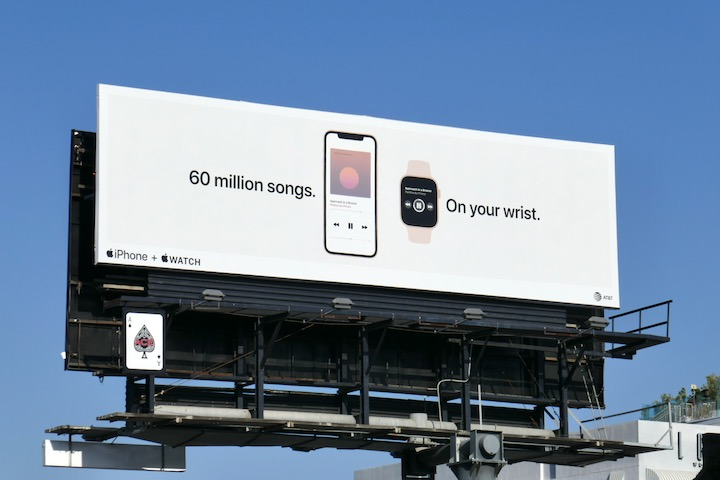 Apple iPhone Watch billboard