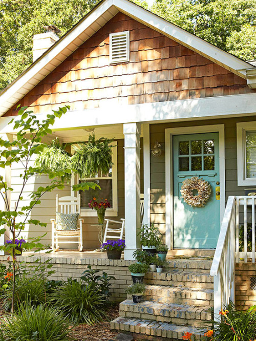 small and cozy front porch