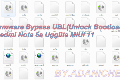 Firmware Bypass UBL(Unlock Bootloader) Redmi Note 5a Ugglite MIUI 11