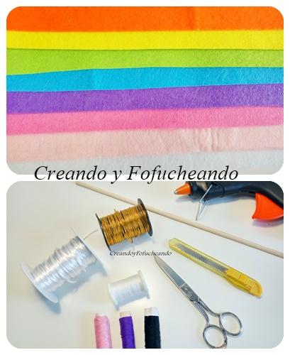 materiales-banderin-de-unicornio-en-fieltro-paso-a-paso