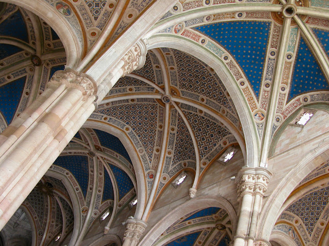 interior de la cartuja de Pavía