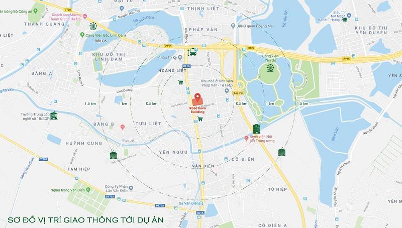 Vị trí chung cư Rose Town Thanh Liệt Hoàng Mai