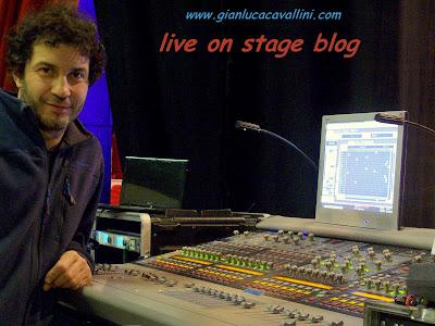 gian luca cavallini tecnico del suono e sound engineer autore di live on stage blog con mixer digidesign venue