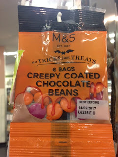 creepy chocolate beans