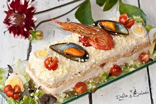 Pastel de Pan de Molde con sabor a Centollo