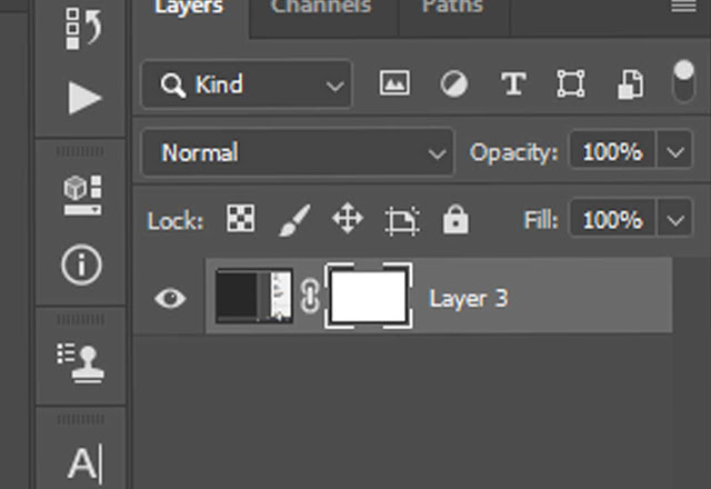 Layer mask option in photoshop