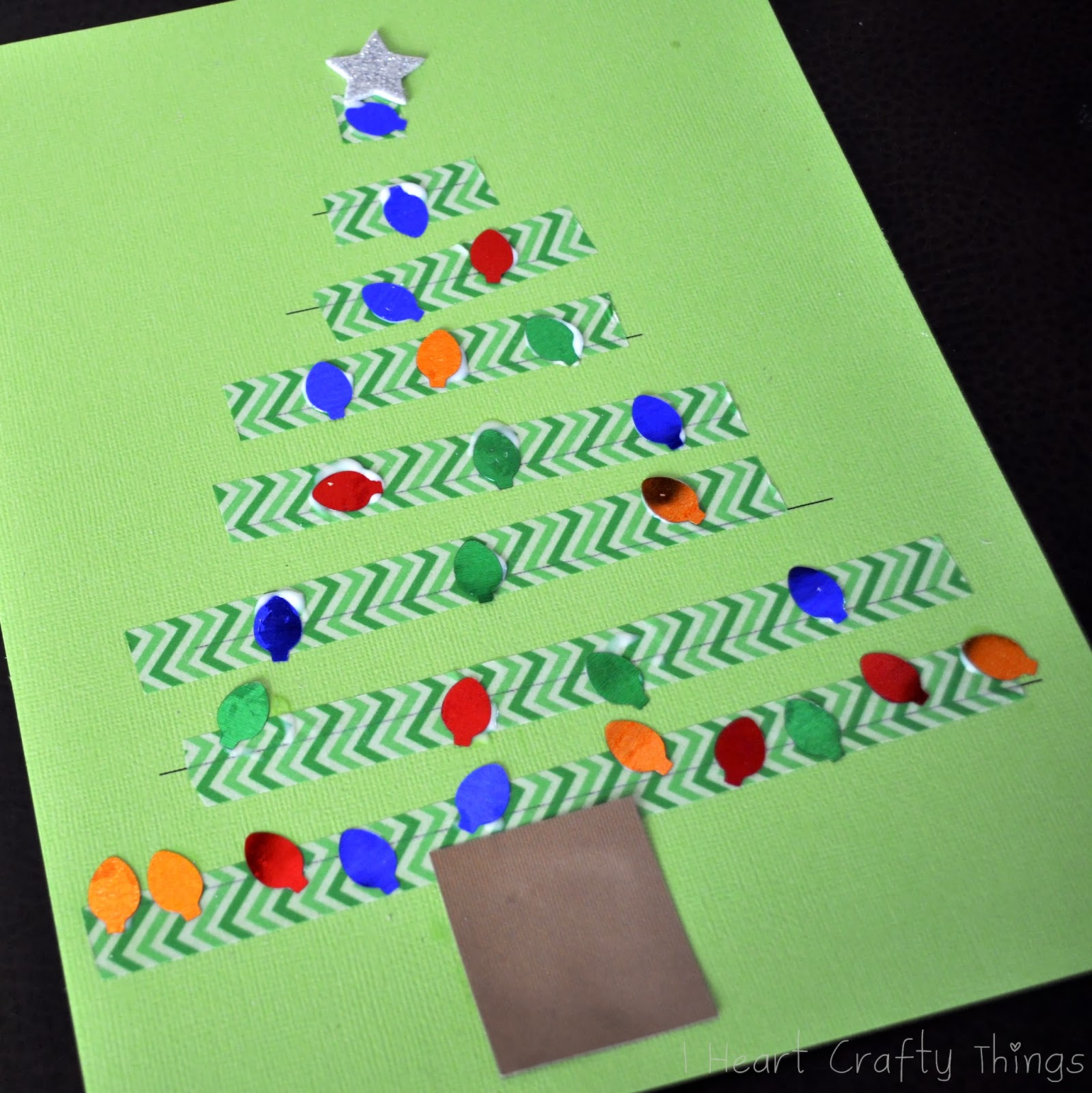 Washi Tape Christmas Tree Craft Fine Motor Practice