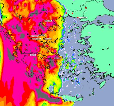 5 - Μπόρες και καταιγίδες σε μεγάλο μέρος της χώρας και της Θεσσαλίας (+XAΡΤΕΣ ΥΕΤΟΥ)