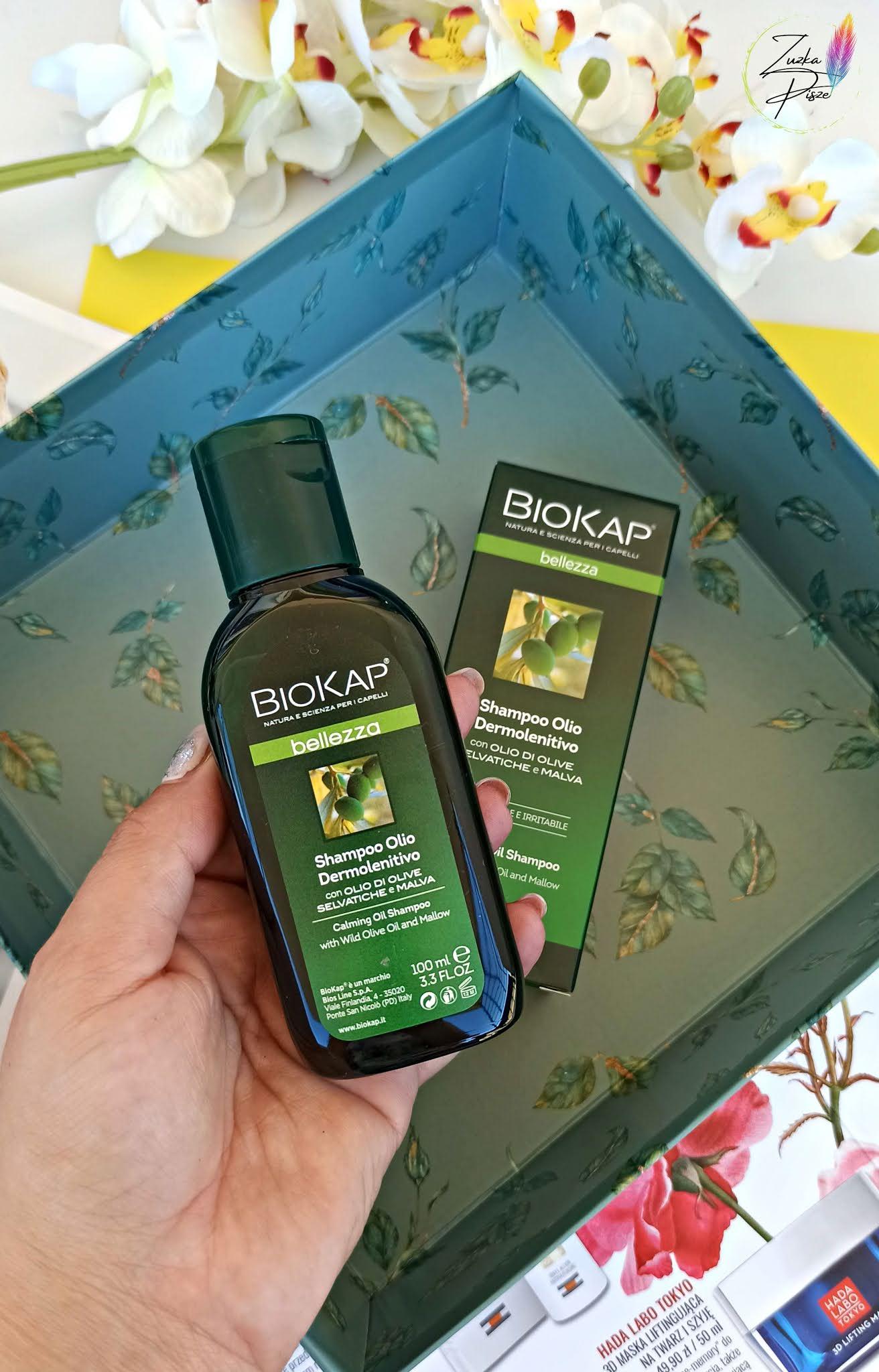 BIOKAP BELLEZZA - Kojący szampon na bazie olejku