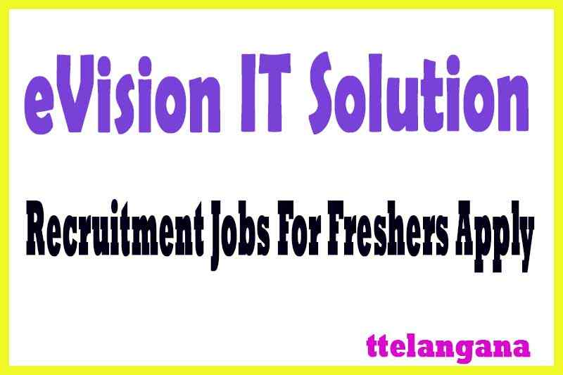 eVision IT Solution Recruitment Jobs For Freshers Apply