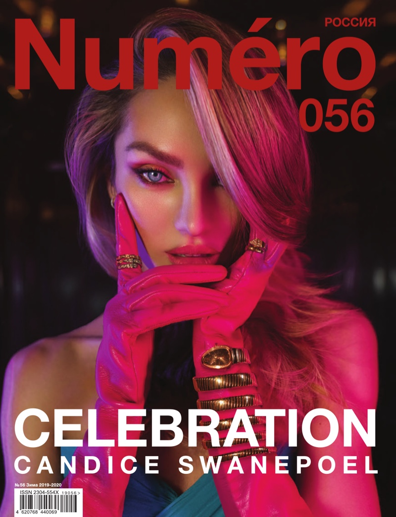 Candice Swanepoel graces two covers for Numero Russia's Winter 2019.2020 issue