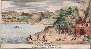 Lago Agnano y la Grota del Cane