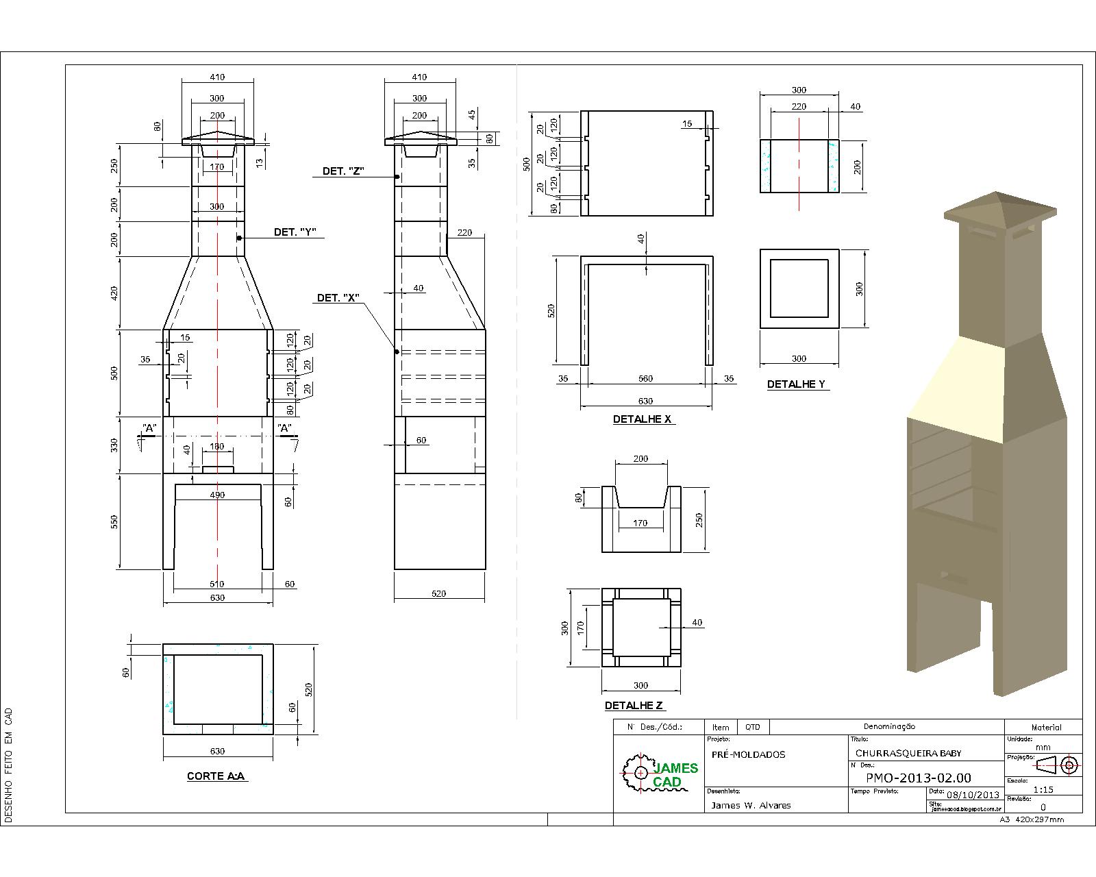 Desenhar Planta Online Jamescad Desenhos Mec 226 Nicos Civil Mobili 225 Rio Pr 233