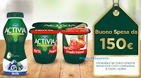 Logo Con Activia vinci subito buoni spesa Coop da 150€