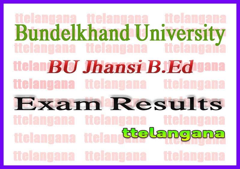 BU Jhansi B.Ed Annual Exam Result 2020 Bundelkhand University