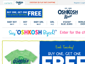 photo about Oshkosh Printable Coupon titled Oshkosh printable coupon in just shop : Quilt retail outlet discount coupons