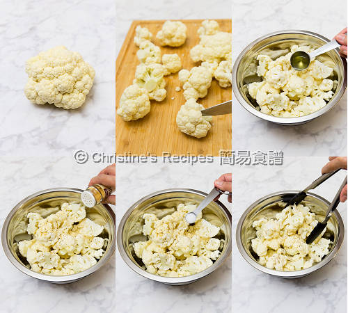 焗椰菜花乳酪芥醬汁製作圖 Roasted Cauliflower with Yoghurt Mustard Sauce Procedures01