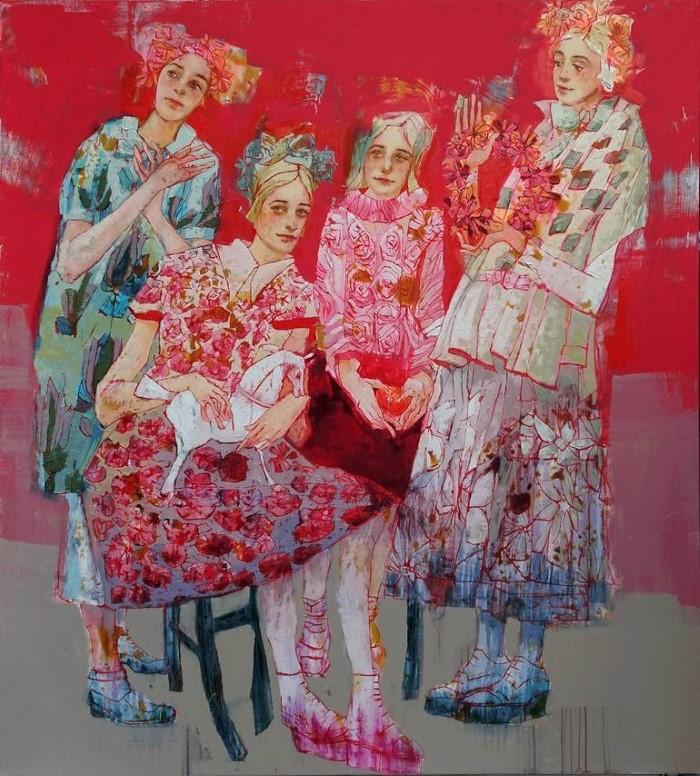 Букет из женщин и цветов. Lilas Blano