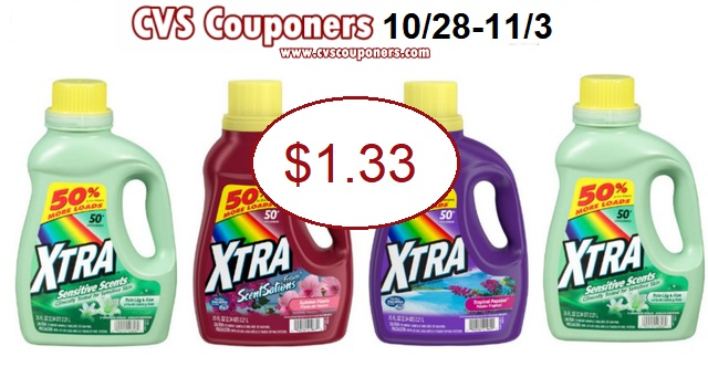 pay 1.33 for xtra at cvs couponers