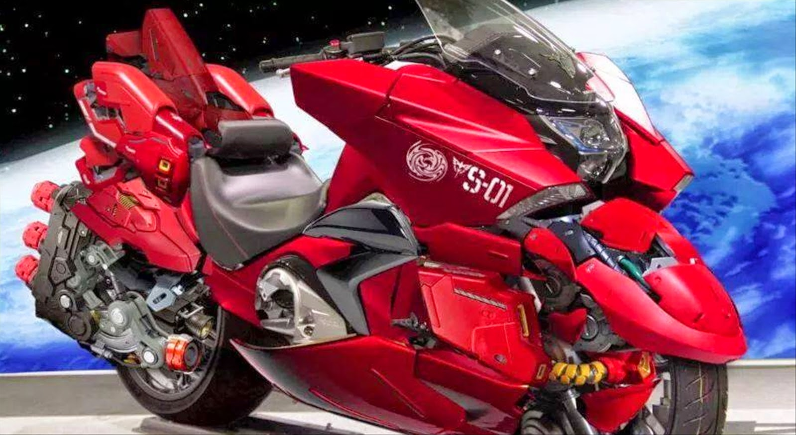Photoshopped: HONDA NM4 Red Comet Motorbike - Gundam Kits Collection News and Reviews