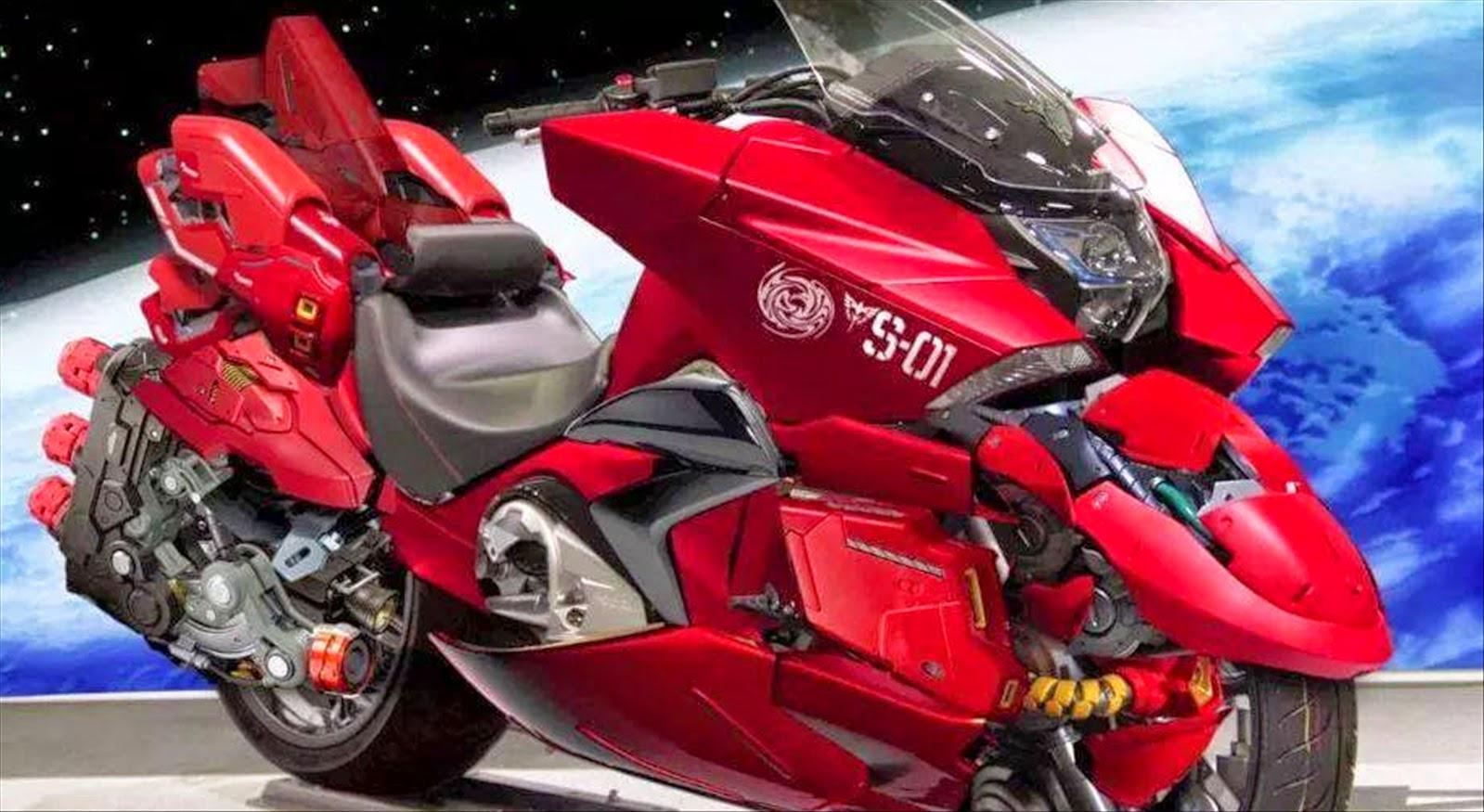 Photoshopped: HONDA NM4 Red Comet Motorbike - Gundam Kits ...