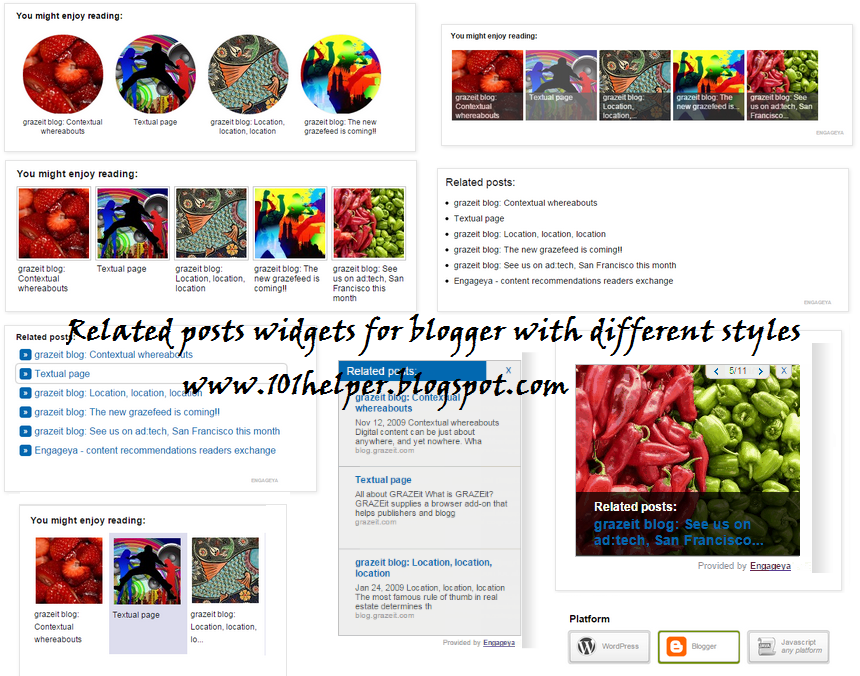 Related posts widget for blogger/wordpress