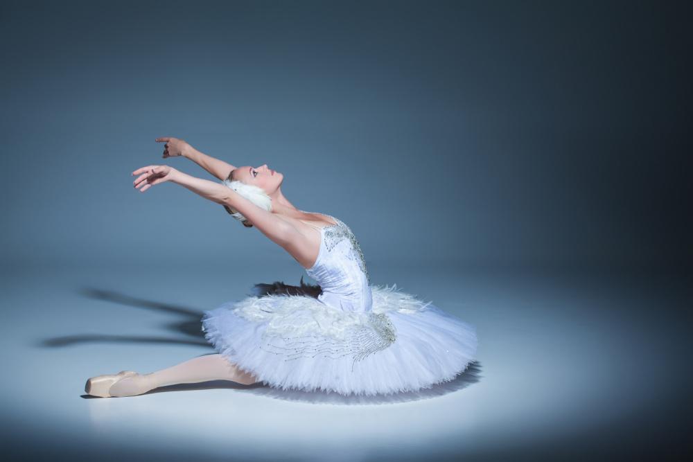 Ballerina striking a pose from Swan Lake.