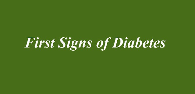 First Signs of Diabetes