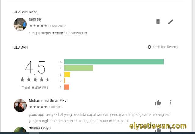 ranting aplikasi quora di playstore android