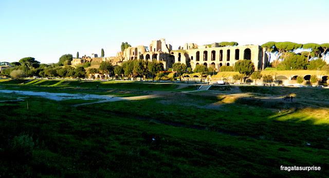 Circo Máximo e Palácio dos Césares, no Monte Palatino, Roma