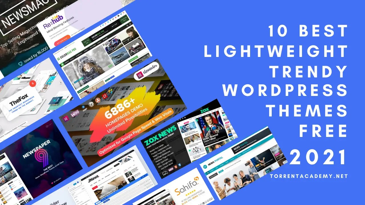 10-best-fastest-lightweight-WordPress-themes