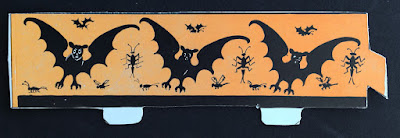 Example vintage Beistle diecut with bat motif design. Front.