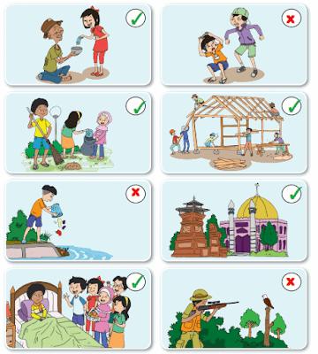 gambar yang menunjukkan perilaku yang sesuai dan tidak sesuai dengan nilai-nilai Pancasila www.simplenews.me