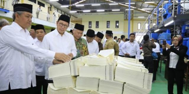 Terkait Salah Cetak Al Qur'an, Begini Jawaban Menteri Agama Lukman Hakim