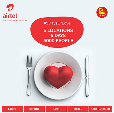 Airtel 5 Days of Love Kicks off – Eat and be Satisfied