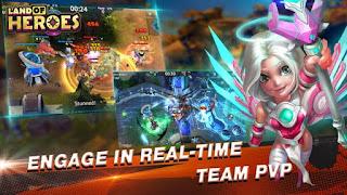 Download Land of Heroes Mod Apk v0.06.0680q  Mod High Damage+God Mod Full Version
