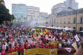 Dia nacional de lutas em Porto Alegre-RS