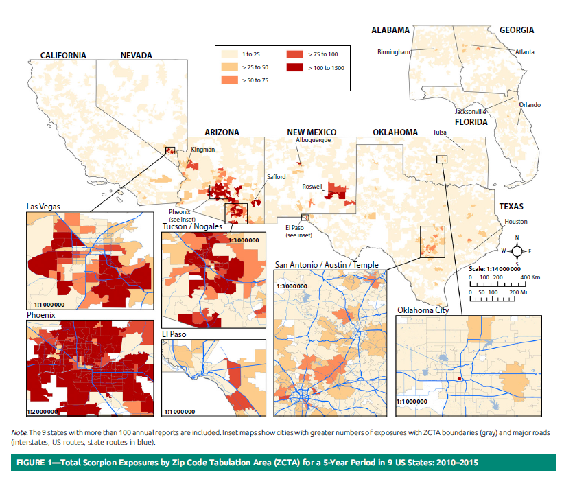 Scorpions In Arizona Map The Scorpion Files Newsblog: Geographic distribution of scorpion